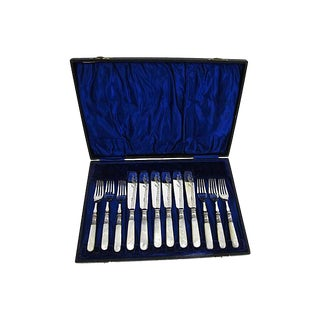 Vintage Pearl & Silverplate Cutlery - Service for Six