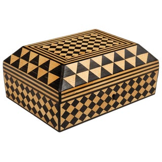 Antique Satinwood and Rosewood Parquetry Box, 18th Century For Sale