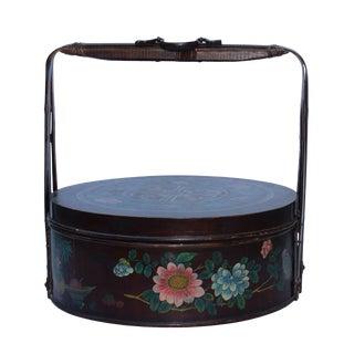 Chinese Handmade Gold Ingot Shape Floral Pattern Bamboo Strip Dim Sum Basket For Sale