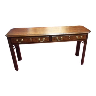 Vintage Century Furniture Chippendale Sofa Table For Sale