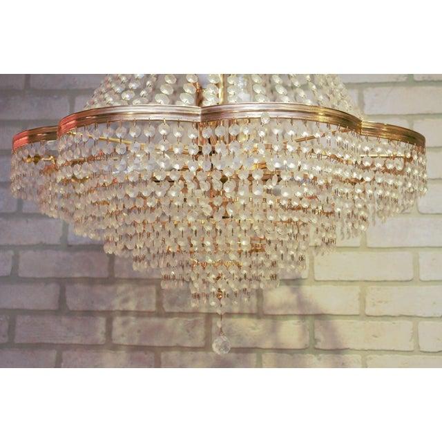 Vintage Swarovski Crystal Chandelier For Sale - Image 9 of 12