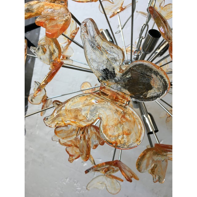 Murano Glass Butterfly Sputnik Chandelier For Sale - Image 9 of 12