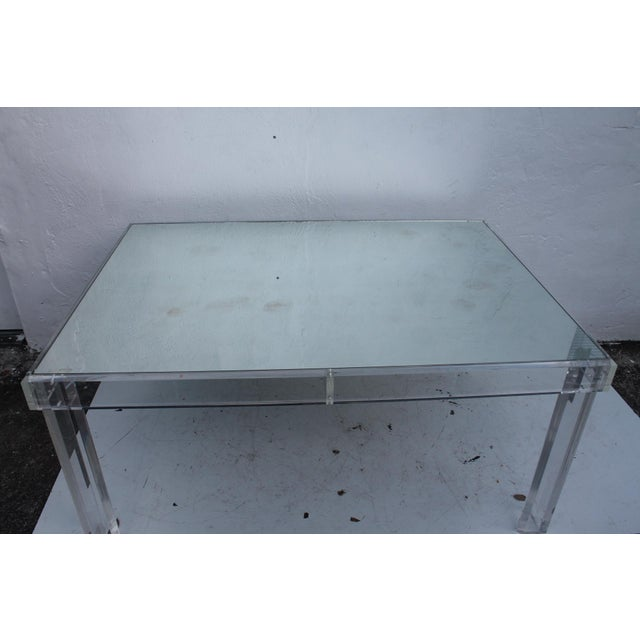 VJJ 1978 Signed Lucite Dining Table For Sale In Miami - Image 6 of 11