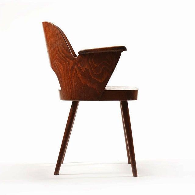 Oswald Haerdtl Mid-Century Armchair by Oswald Haerdtl for TON For Sale - Image 4 of 7