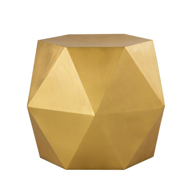 Metal Pasargad Home Lexi Side Table - Brass For Sale - Image 7 of 7