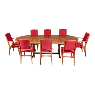 1970s Teak Dining Table & Chairs For Sale