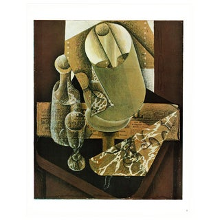 "1940s Juan Gris ""The Lamp"" Cubist Lithograph From Geneva For Sale"
