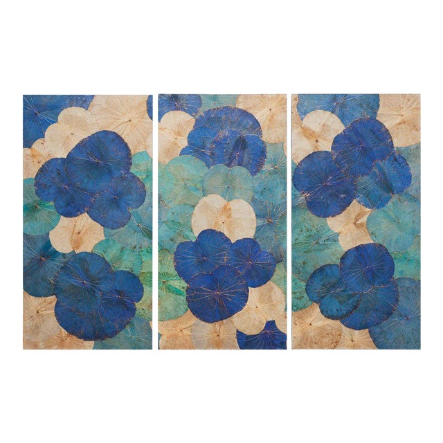 Contemporary Thai Lotus Wall Hangings - Set of 3 For Sale