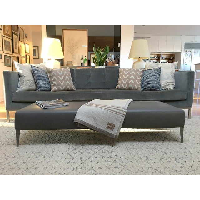 Contemporary B & B Italia Italian Modern Leather Bench For Sale - Image 3 of 10