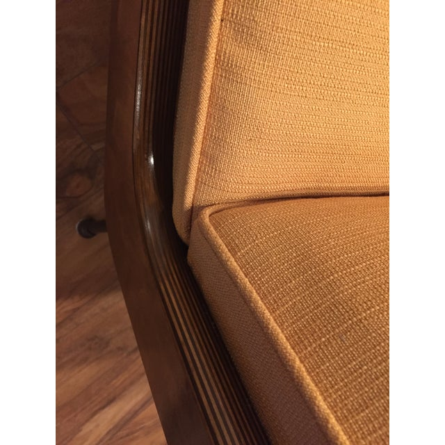 New Yellow Upholstery Mid-Century Boomerang Chair For Sale - Image 10 of 11