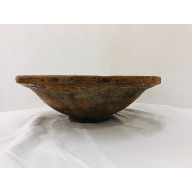 Early 20th Century Antique Hand Crafted Terra-Cotta Bowl For Sale - Image 5 of 10