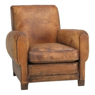 French Art Deco Club Chair Carefully Restored For Sale