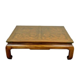 Vintage Henredon Asian Ming Style Oak Coffee Table For Sale