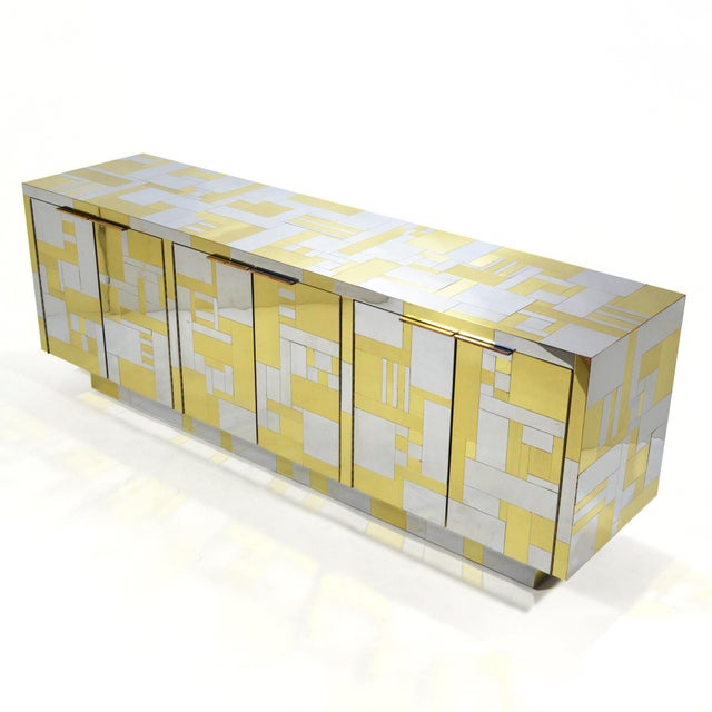 Gold Paul Evans Cityscape Credenza For Sale - Image 8 of 10