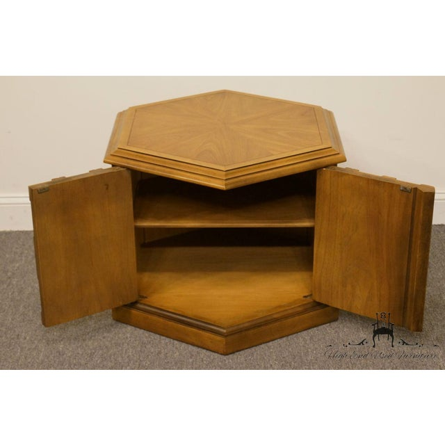 Drexel Drexel Esperanto Collection Hexagonal Storage End Table For Sale - Image 4 of 13