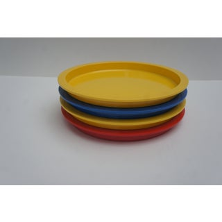 1970s Mid Century Modern Gunnar Cyren for Dansk Primary Color Stacking Dinner Plates - Set of 4 Preview