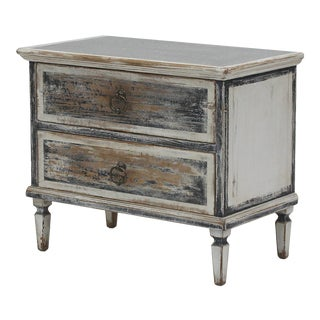 Sarreid Zinc Top Two Drawer Commode For Sale