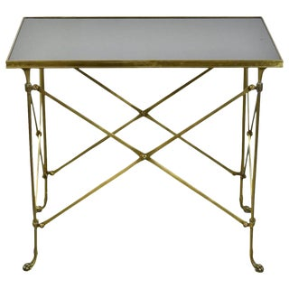 Global Views Neoclassical Directoire Brass Side End Table