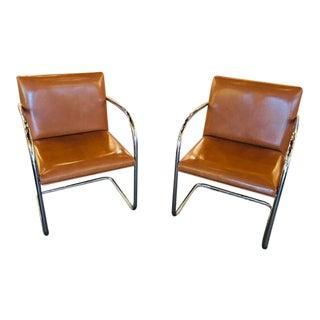 1990s Mies Van Der Rohe Brno Armchairs - a Pair For Sale