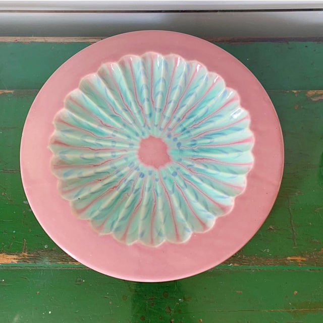Pink Vintage Haeger Marbled Serving Platter For Sale - Image 8 of 8