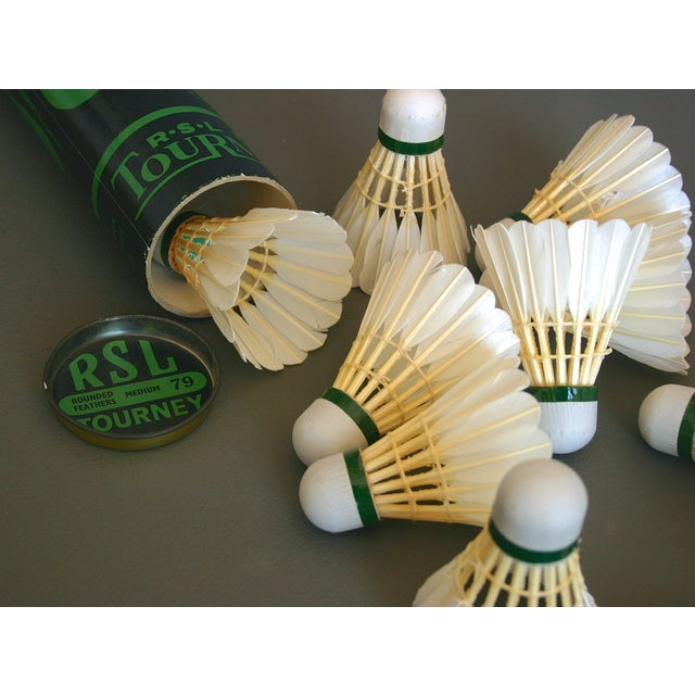 Vintage Badminton Shuttlecocks in Tube - Set of 12 For Sale In Richmond - Image 6 of 7