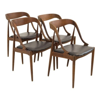 Mid Century Modern Johannes Anderson for Richbilt Teak Danish Dining Chairs - Set of 4 For Sale