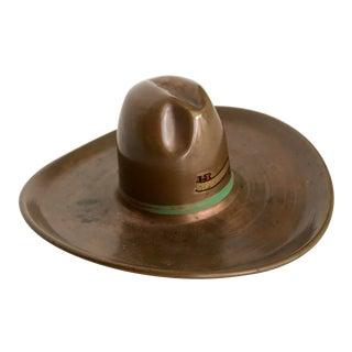 Vintage Copper Cowboy Hat Catch All Dish Ashtray