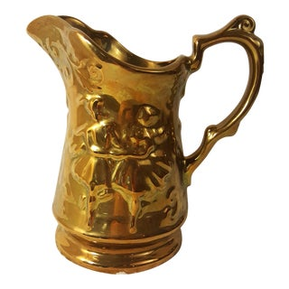 Royal Victoria Copper Lustre Pitcher