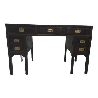Antique Rosewood Campaign Desk , Cantonese For Sale