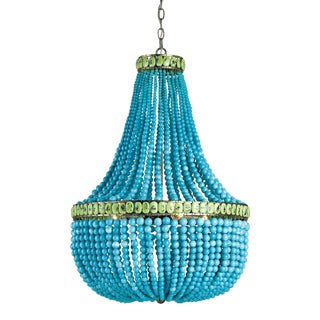 Hedy Turquoise Chandelier For Sale