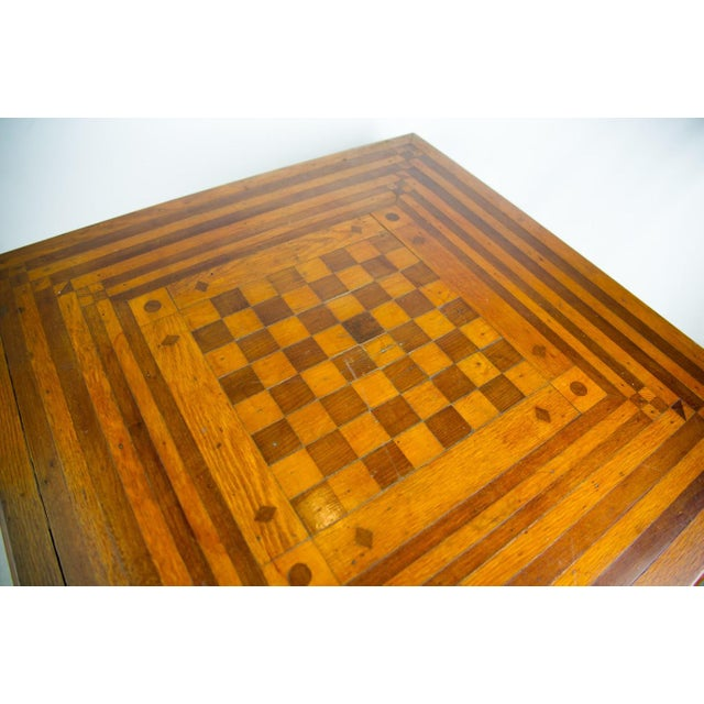 Late 19th Century 19th C. Victorian Parlor Game Table For Sale - Image 5 of 11