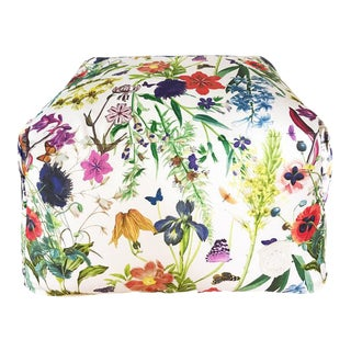 Floral Fantasy Pouf For Sale