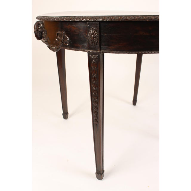 English Neo Classical Style Mahogany Center Table For Sale In Los Angeles - Image 6 of 13