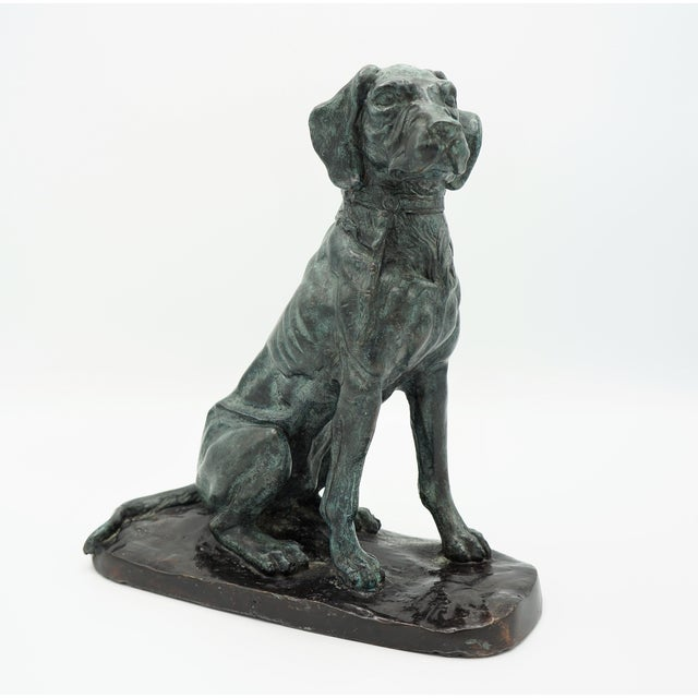 Vintage Maitland-Smith Bronze Sporting Dog For Sale - Image 11 of 12