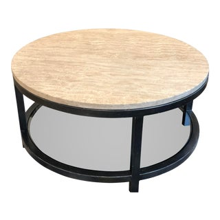 Transitional Artistica Home Per Se Round Cocktail Table For Sale
