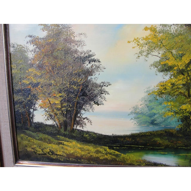 Mid Century Oil on Board Landscape Painting by Paul Chen For Sale - Image 4 of 8