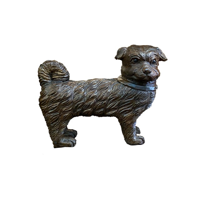 French 19th Century French Carved Dog With Glass Eyes For Sale - Image 3 of 6