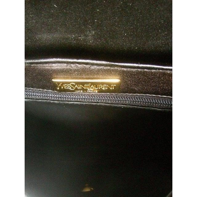 Textile Yves Saint Laurent Chic Black Suede Ysl Embroidered Handbag C 1990s For Sale - Image 7 of 8