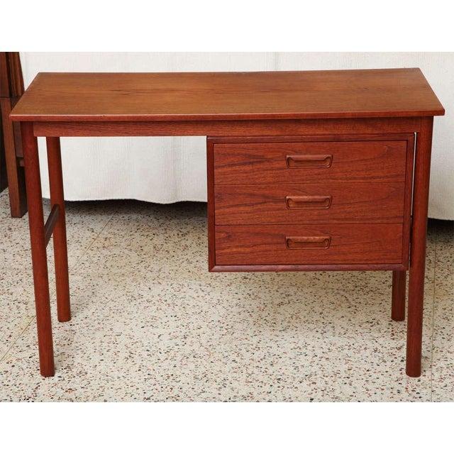 Arne Vodder 1960s Petite Danish Modern Teak Writing Table Desk For Sale - Image 10 of 10