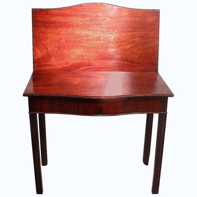 18th Century George III Mahogany Serpentine Front Game Table - Image 10 of 10