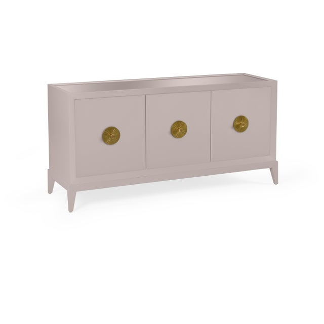Transitional Casa Cosima Hayes Sideboard, Elephant Gray For Sale - Image 3 of 5