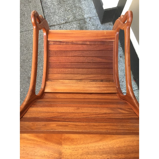 Solid Cherry Wood Rocking Chair For Sale - Image 11 of 11