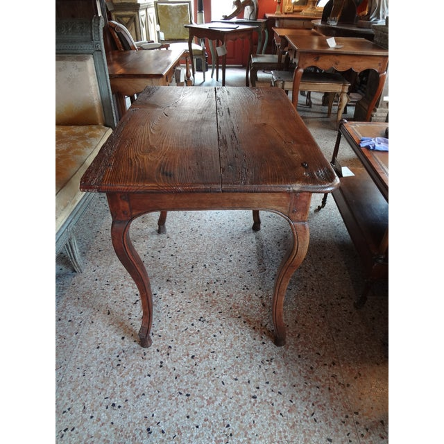 Wood Louis XV Walnut Side Table For Sale - Image 7 of 11