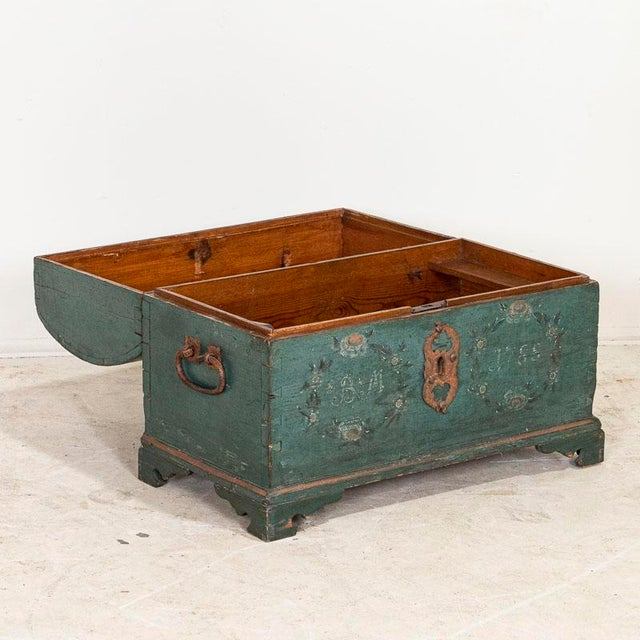 This exceptional trunk is a wonderful example of Swedish craftsmanship and a tremendous find. The lovely patina of the...