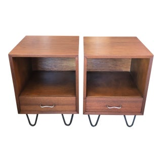 George Nelson Herman Miller Nightstands - A Pair For Sale