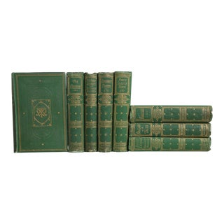 Antique Green Bookshelf: W. M. Thackeray - Set of 8