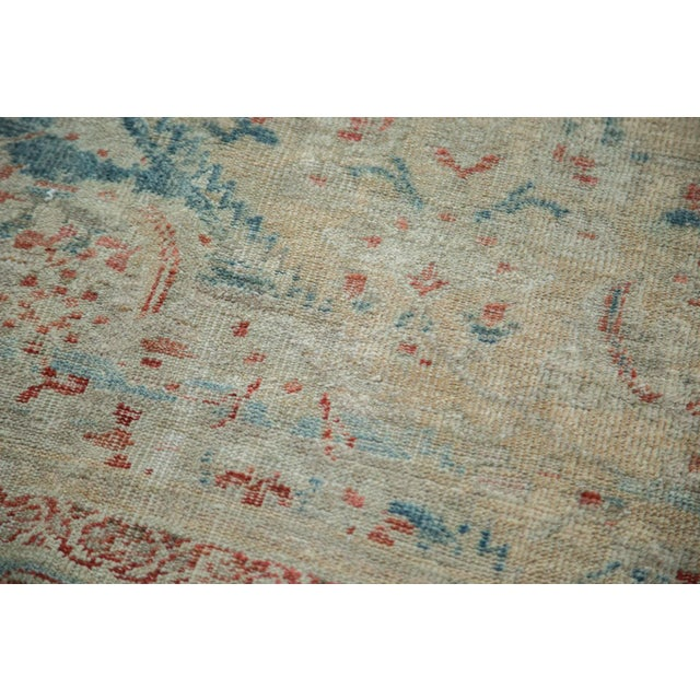 """Distressed Antique Sultanabad Carpet - 9' X 12'5"""" For Sale - Image 9 of 10"""