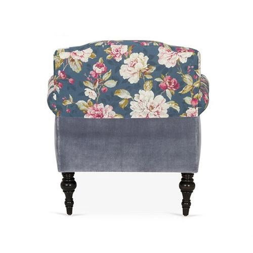 Kim Salmela Atelier Kim Salmela Blue Floral Chair For Sale - Image 4 of 6