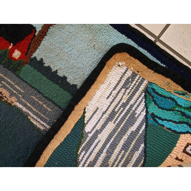 Textile 1960s Vintage American Hooked Rug- 1′6″ × 3′ For Sale - Image 7 of 10