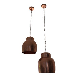 Copper Pendant Lighting - A Pair